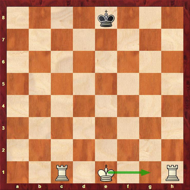 Picture of valid Kingside castling even though a1 rook has moved