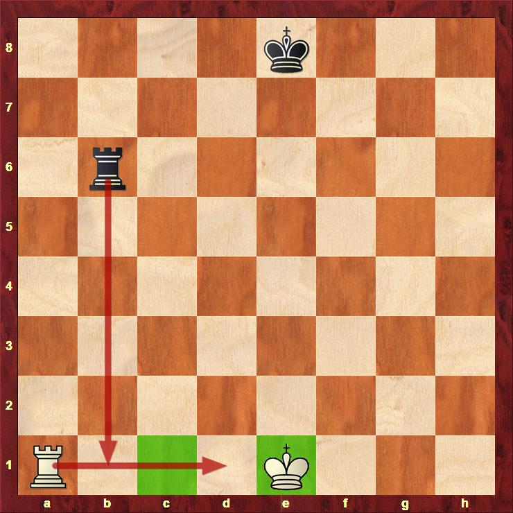 """White can castle even though his Rook would """"move through"""" the attacked b1 square."""